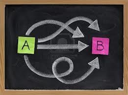 punto a punto b con alternativas