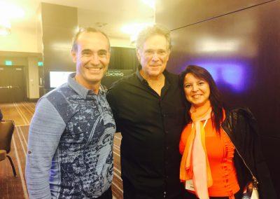 Susana Rodríguez y Dan González con Keith Cunnighan, Las Vegas
