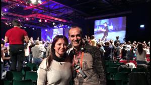 Susana Rodríguez y Dan González en UPW