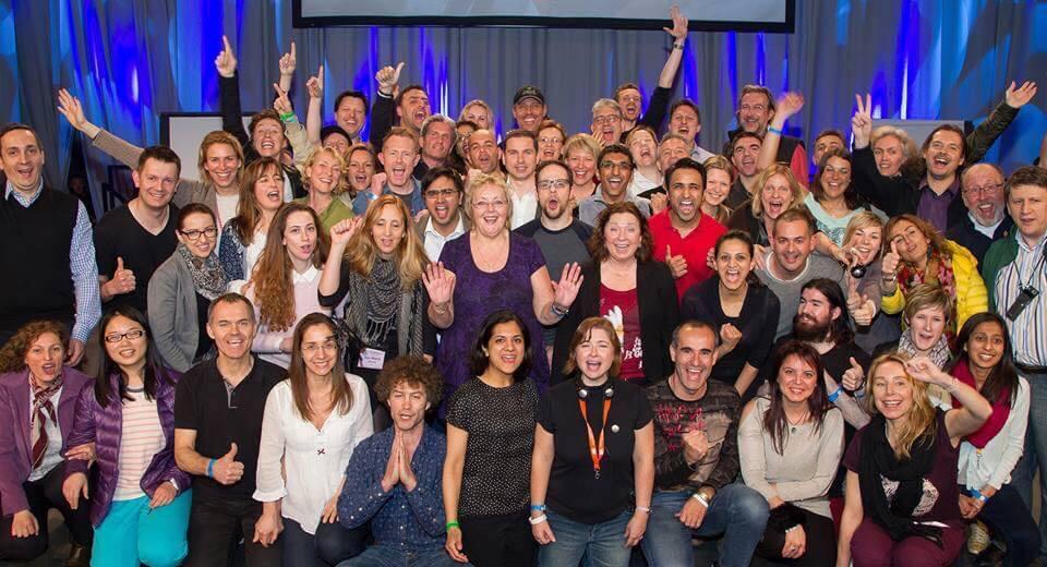 Grupo con Tony en UPW Londres 2015