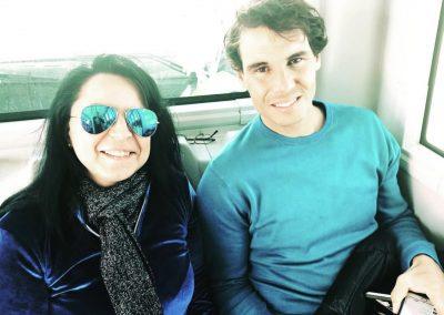 Rafa Nadal y Susana Rodríguez