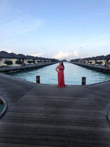 Susana Rodríguez en las Islas Maldivas