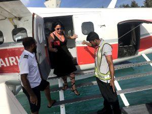 hidroavión en las Islas Maldivas